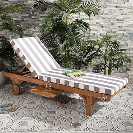 1904594d0e6 Amazon.com   Safavieh PAT7022E Outdoor Collection Newport Teak
