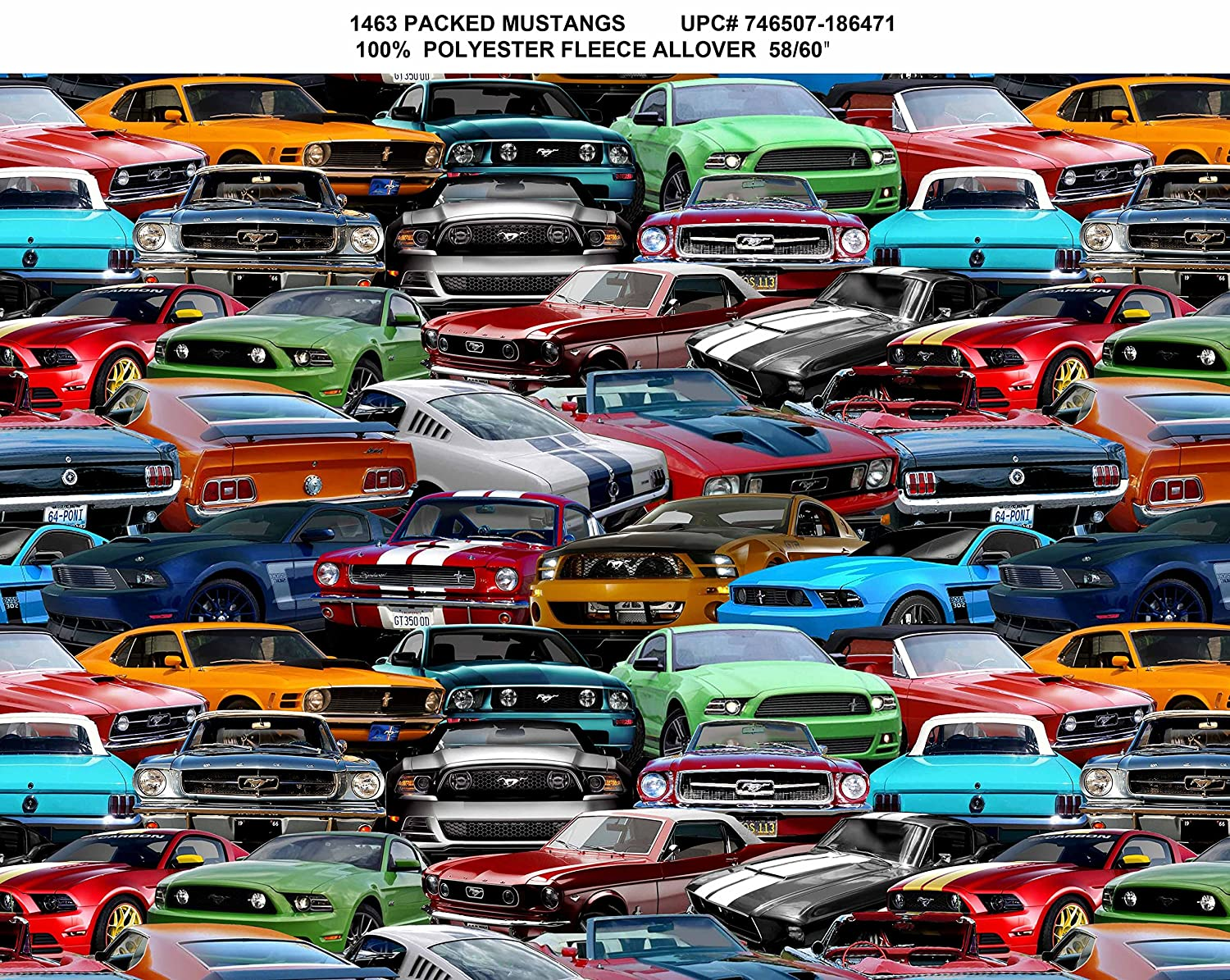 Amazon com ford mustang fleece fabric ford mustang fleece blanket fabric sold by the yard