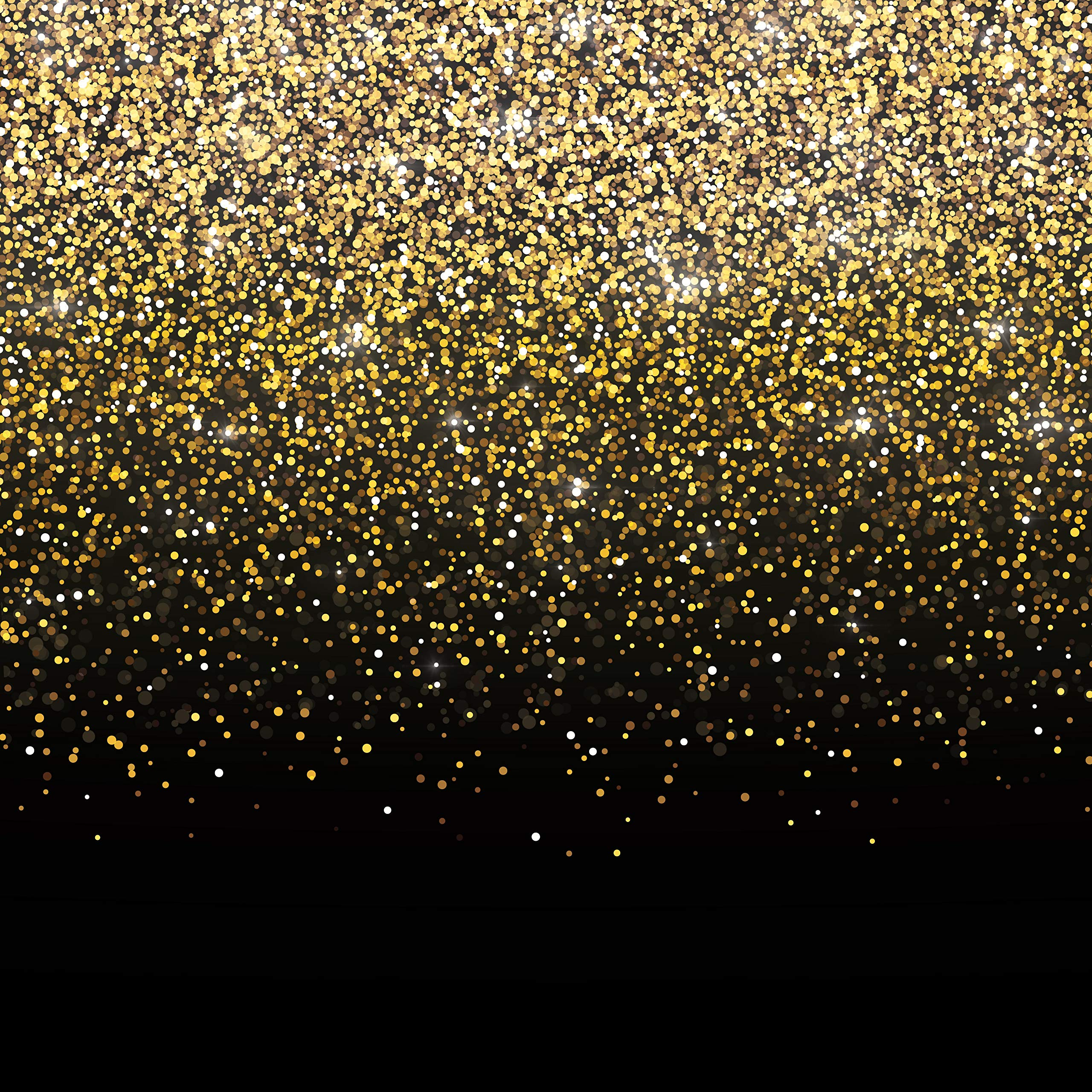 CDM product Black and Gold Photo Booth Backdrop Banner - Perfect Party Decoration for Birthday, New Year's Eve, Bachelorette, Weddings, Christmas (6ft x 6ft) big image
