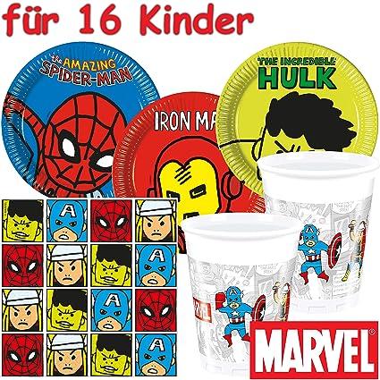 53 Juego de set de fiesta * Avengers Team Power * con 16 ...