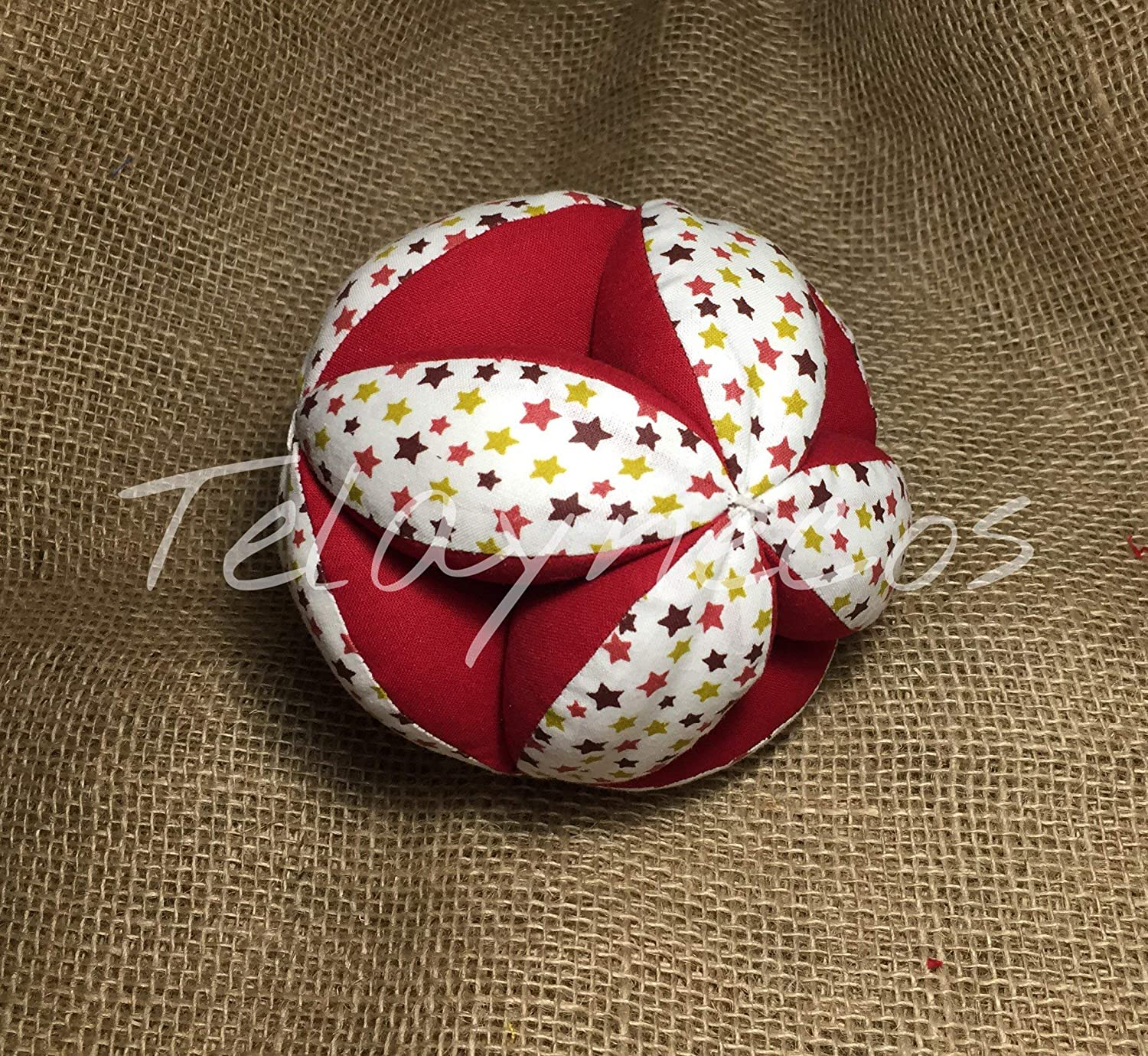 Pelota Montessori estrellas granate: Amazon.es: Handmade