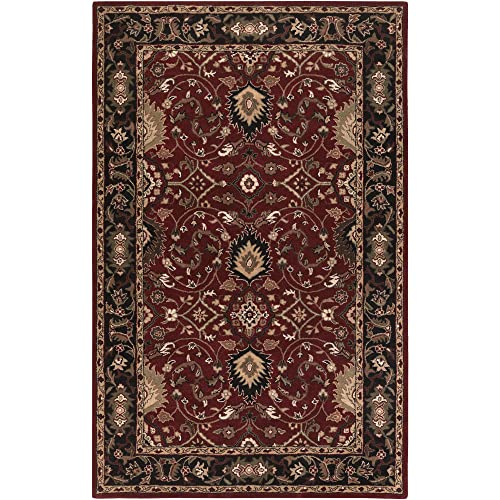 Surya CAE-1031 Caesar Red 2-Feet by 4-Feet Hearth Area Rug