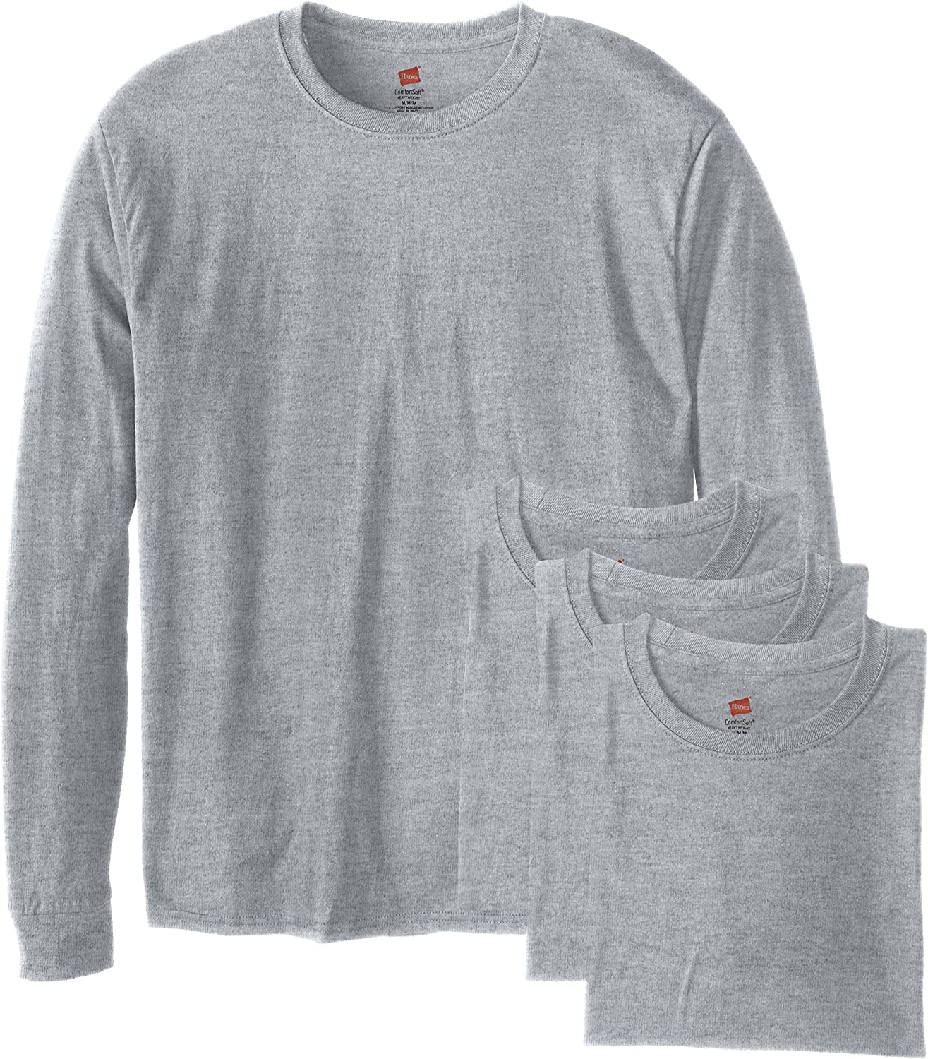 Hanes Men's Long-Sleeve ComfortSoft T-Shirt (Pack of 4) |