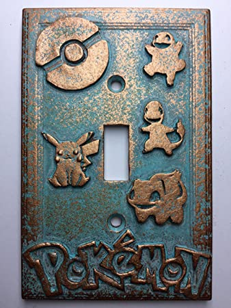 Amazon pokemon light switch cover custom patina home pokemon light switch cover custom patina sciox Image collections