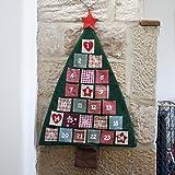 Fabric Christmas Tree Advent Calendar