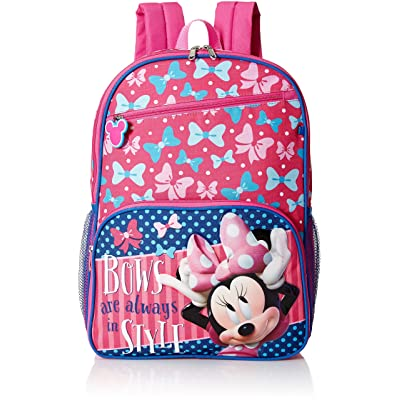 f4ba8cff495 50%OFF Disney Girls  Minnie Mouse Backpack with Barettes Attached, Pink