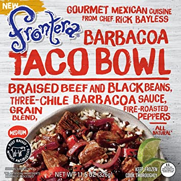 Frontera Barbacoa Taco Bowl, 11.5 oz (frozen)