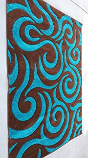 Amazon Com Royal Collection Turquoise Blue Brown Contemporary