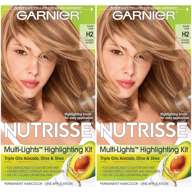 Garnier Hair Color Nutrisse Nourishing Creme, H2 Golden Blonde, 2 Count