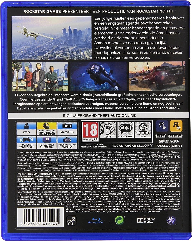 Amazon.com: Grand Theft Auto 5 (GTA V) PS4 - PlayStation 4 ...