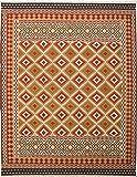 "Ecarpetgallery Hand-woven Kashkoli Kilim Geometric 9'4"" x 11'11"" Red 100% Wool area rug"