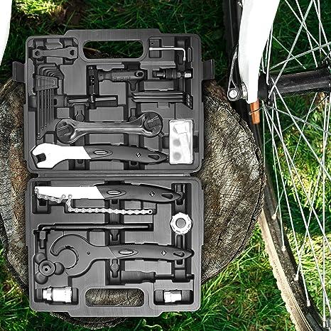 Provelo Cassetta Attrezzi per Bici Completa Giunti e accessori per rimorchi Accessori per viaggio e trasporto Kit 26 Pezzi per Riparazione e Manutenzione Biciclette