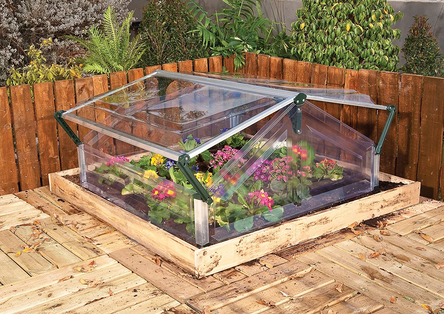 Amazon.com : Palram Cold Frame, Double : Greenhouse Cold Frames ...