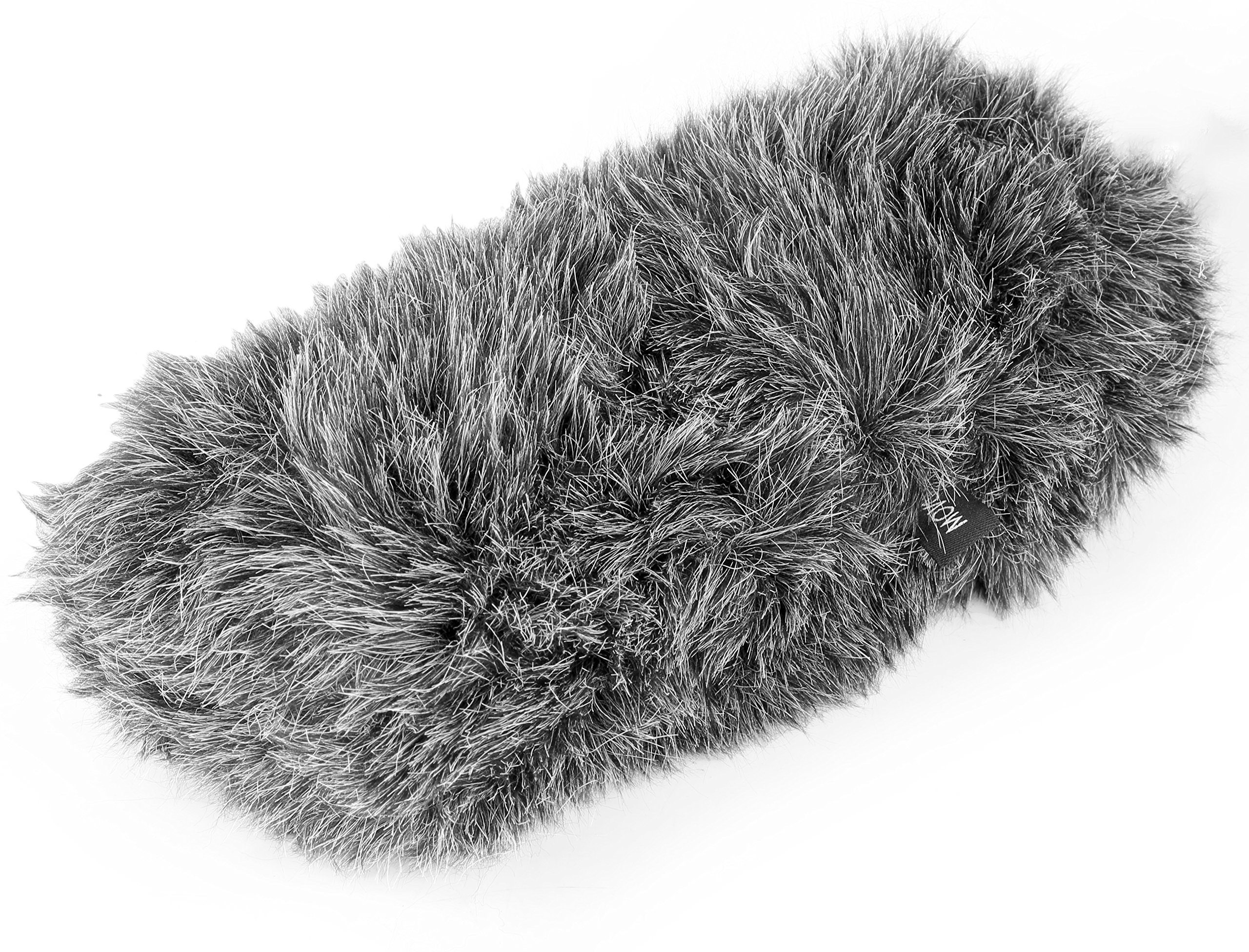Movo WS-S1000 Furry Outdoor Deadcat Windscreen for Shotgun Microphones up to 7-inch (18cm) Long - Fits Rode VideoMic, NTG-2, Sennheiser ME66, Audio-Technica AT-897 & More