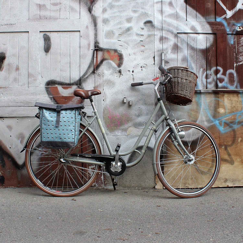 IKURI Bike Bag for Rear Rack Bicycle Bag Pannier Waterproof with Shoulder Strap Model Avestruz