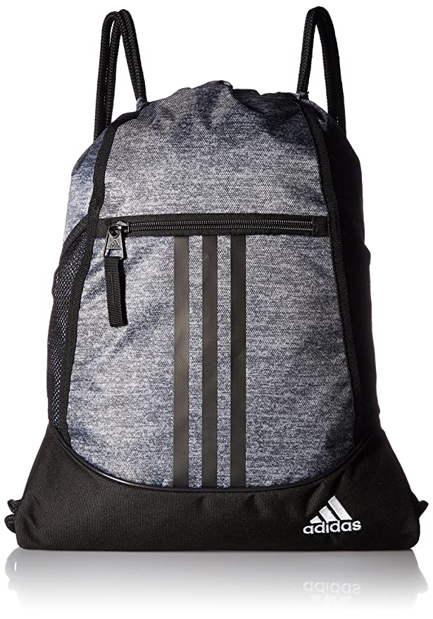 adidas Alliance II Sackpack, Onix Jersey/Black/White, One Size best gym backpacks