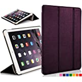 Forefront Cases Leather Case Cover with Magnetic Auto Sleep Wake Function for 7.9 inch Apple iPad Mini with Retina Display - Purple