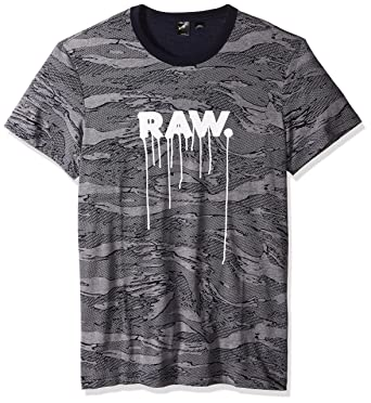 cb0af77afd6 Amazon.com: G-Star Raw Men's Daefon Regular All Over Print Tee Short  Sleeve: Clothing