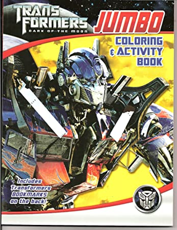 transformers dark of the moon jumbo coloring and activity book