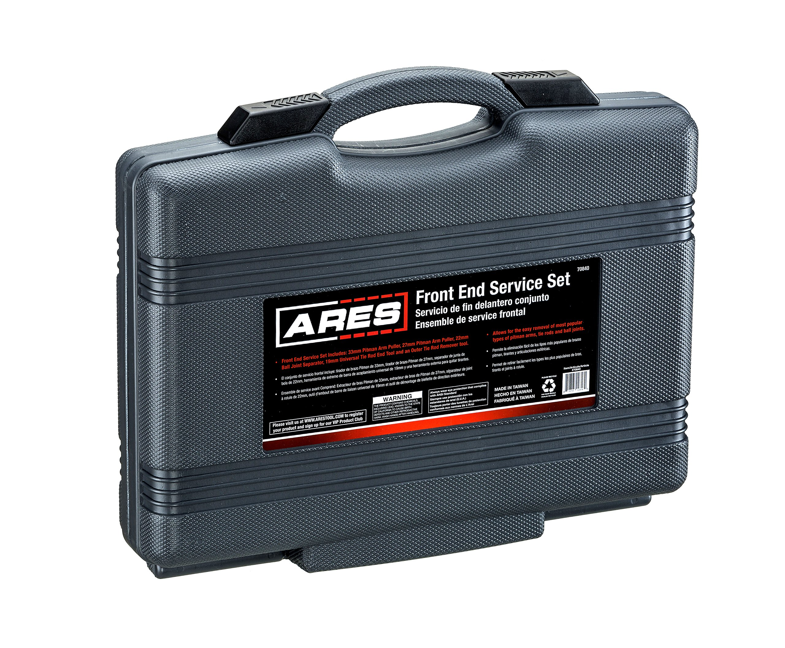 ARES 70840 | Front End Service Set | Allows for Easy Removal of Most Popular Types of Pitman Arms, Tie Rods and Ball Joints Storage Case Included by ARES (Image #6)
