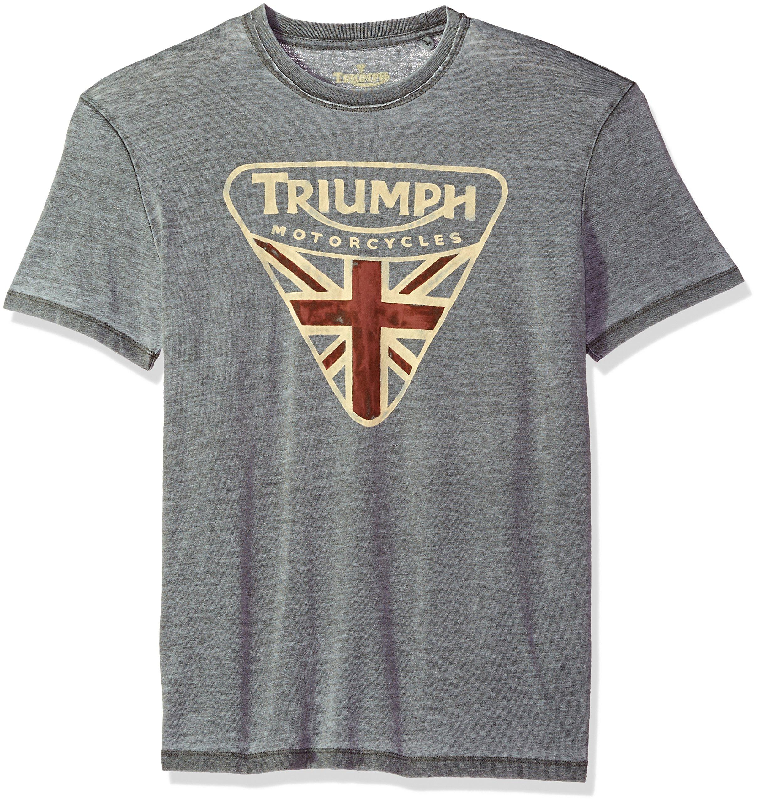 Lucky Brand Men's Triumph Badge Graphic TEE, Black Mountain, S
