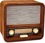 ClearClick Classic Vintage Retro Style AM/FM Radio with Bluetooth & Aux-in