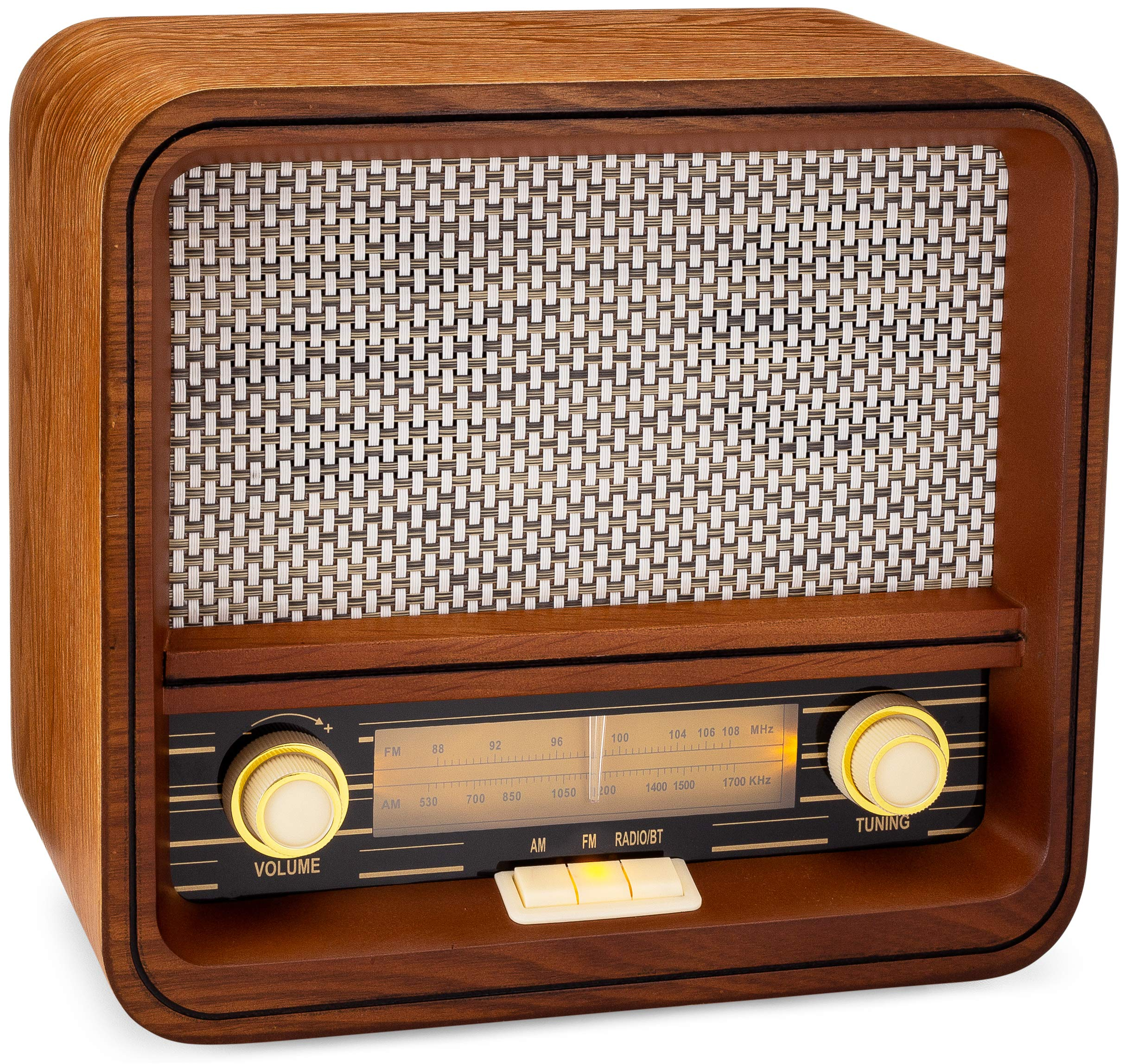 ClearClick Classic Vintage Retro Style AM/FM Radio Bluetooth & Aux-in - Handmade Wooden Exterior by ClearClick