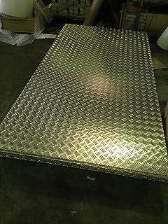 100mm x 100mm 1 Cut to your exact size Aluminium Duet Chequer Plate 1.5 // 2/mm aluminum sheet