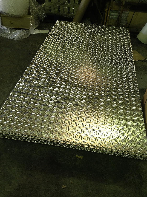 Tread Plate Aluminium 2mm Sheet - 2500 x 1250 - 8x4ft Full Sheet The-Aluminium-Shop