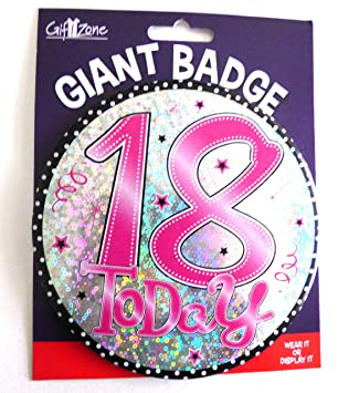 JUMBO BIRTHDAY BADGES 18th