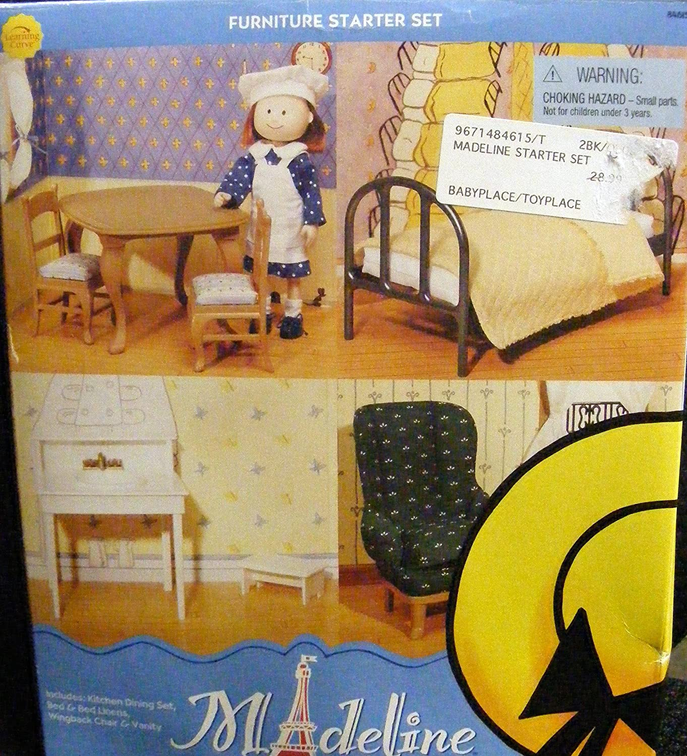 Amazon.com: Madeline 8 Inch Doll Furniture Starter Set (2002): Toys U0026 Games