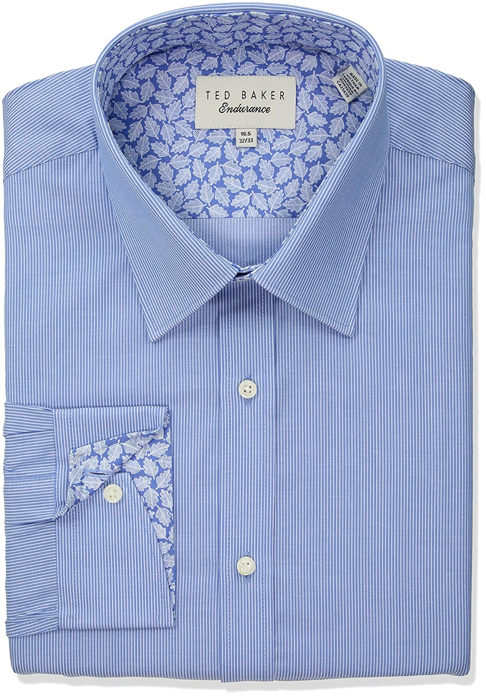 dd8df2e440bd Amazon.com  Ted Baker Men s Strem Slim Fit Dress Shirt  Clothing
