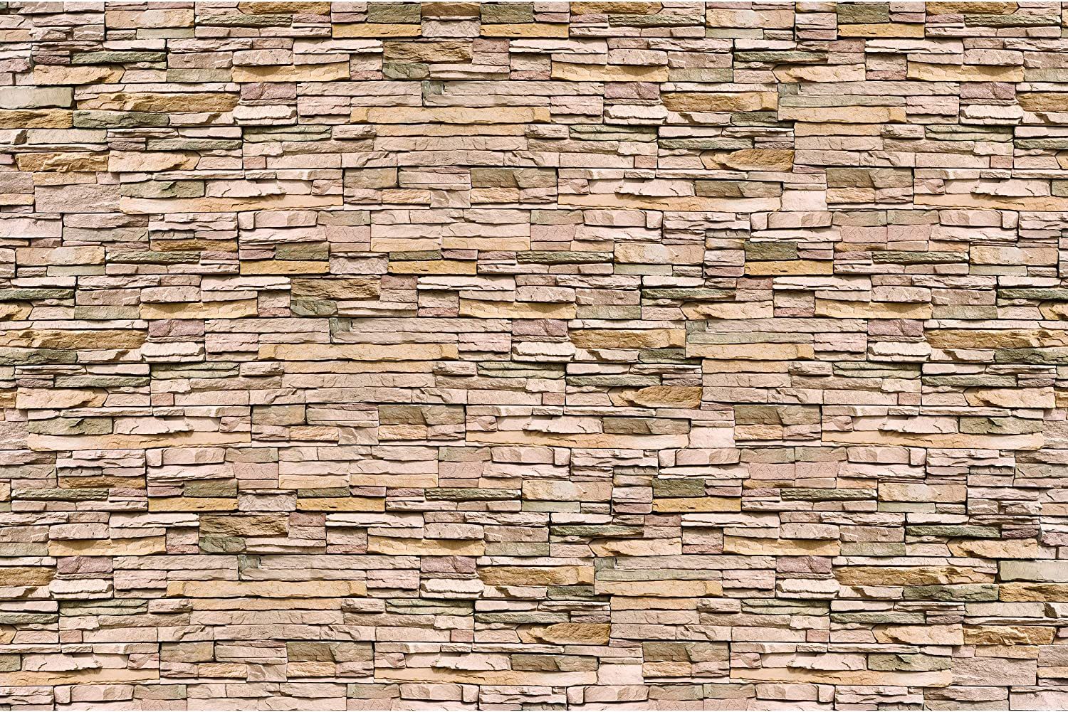 Large Photo Wallpaper – Noble Beige Stonewall – Picture Decoration Modern Natural Slate Stone Look Wall Cladding Masonry Sandstone Image Decor Wall Mural (132.3x93.7in - 336x238cm)