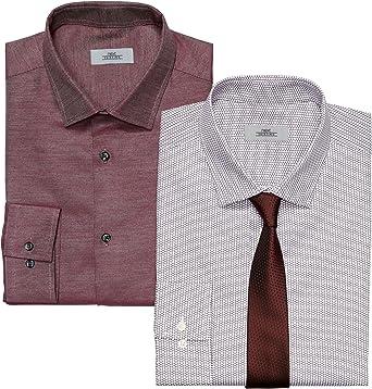 next Hombre Conjunto De 2 Camisas Limpia Y Estampada Y ...