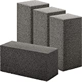 Non Toxic, Restaurant Grade Grill Cleaning Brick 4 Pack. Reusable, Non Scratch Pumice Stone Bricks for Smokers, Flat Top Gril