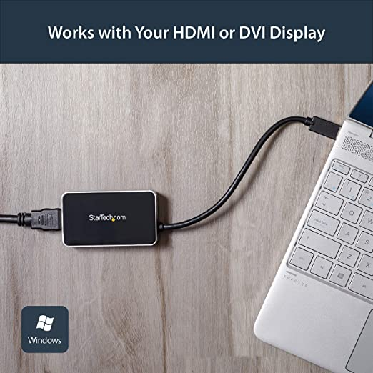 StarTech.com Adaptador Gráfico Externo Multi Monitor USB 3.0 a HDMI Ultra HD 4K Certificado DisplayLink - Tarjeta Gráfica Externa