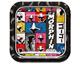 """Amscan 541723 Power Rangers Ninja Steel Square Plate, Party Favors, 7"""", 8 Ct."""