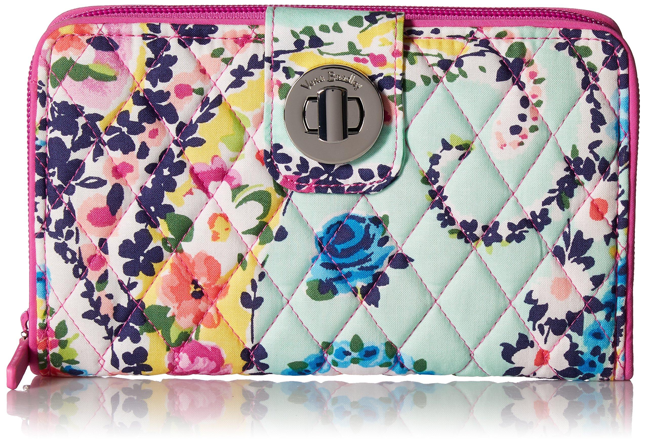 Vera Bradley RFID Turnlock Wallet, Signature Cotton, Wildflower Paisley