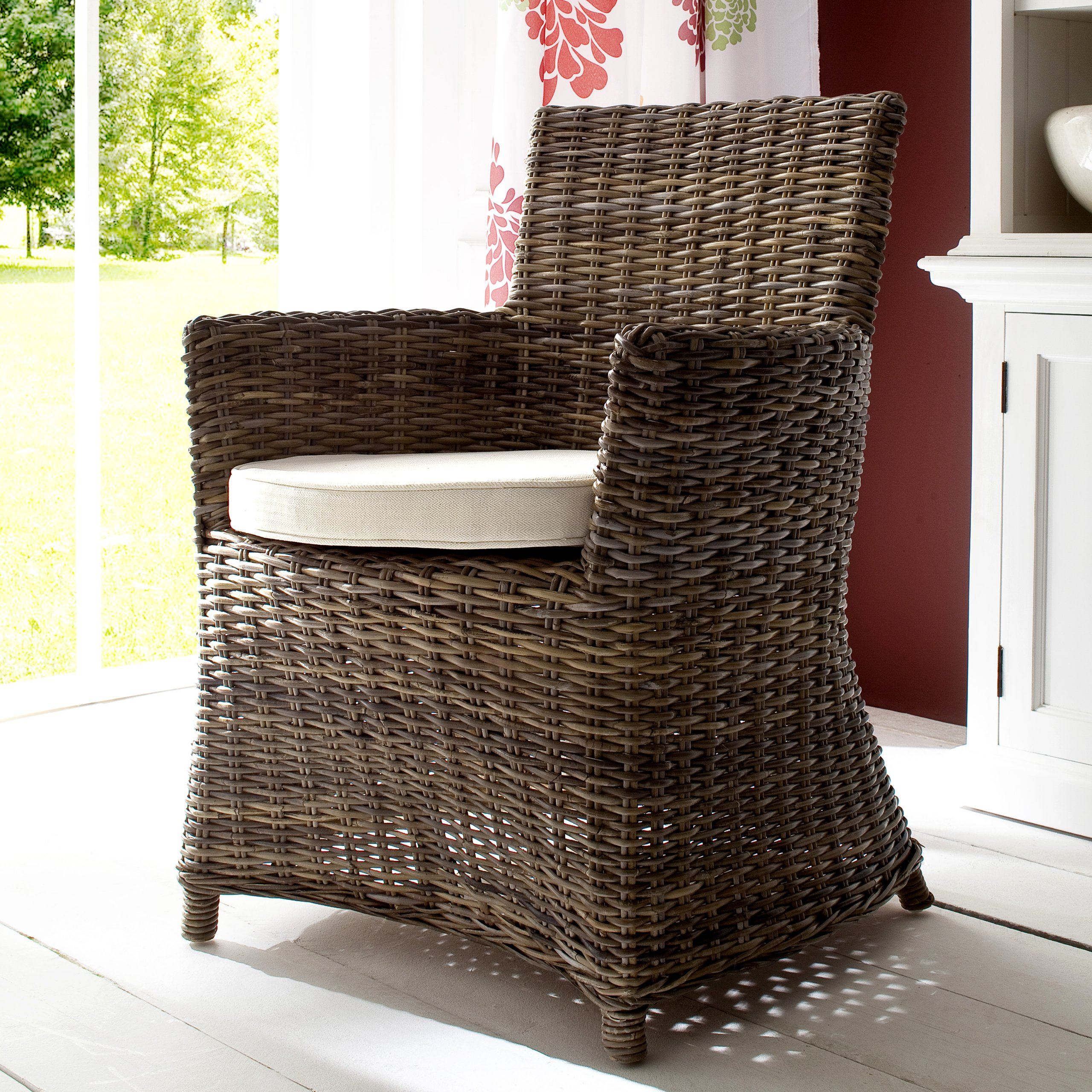 Infinita Wickerworks Natural Rattan Bishop Chair