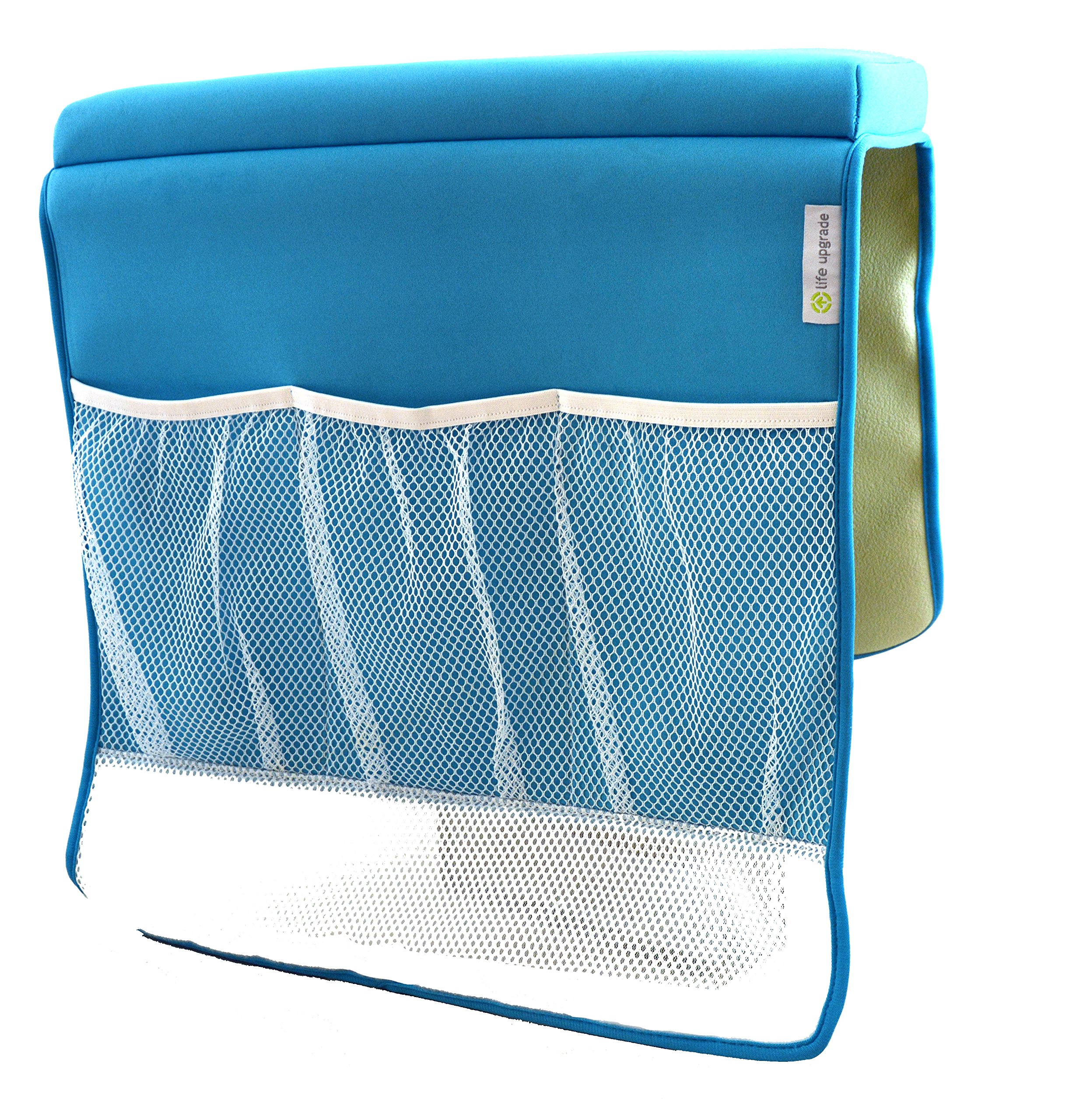 Life Upgrade Bath Kneeler in Blue - Padded Knee and Elbow Baby Bath Tub Cushion Mat with Pockets by Life Upgrade (Image #4)