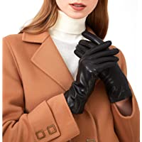 Leather Gloves for Women - Deluxe SheepSkin Leather women's Gloves Cashmere Lining