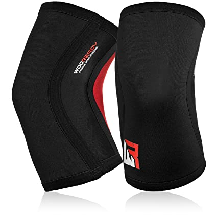 301a9e5697 WODReady Knee Sleeves (1 Pair) - Weightlifting, Powerlifting, Bodybuilding,  Squats, Deadlifts, Crossfit, Exercise, Football - Neoprene Compression  Support ...