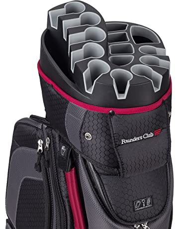 38f2535bce6 Founders Club Premium Cart Bag with 14 Way Organizer Divider Top