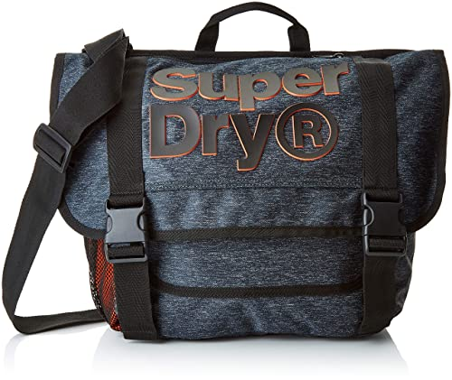 Superdry - Nation Messenger, Mochilas Hombre, Gris (Grey Marl), 46x32x12 cm