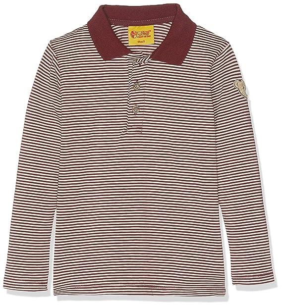 Steiff Poloshirt 1/1 Arm Polo, Rojo (Burgundy|Red 2761), 116 cm ...