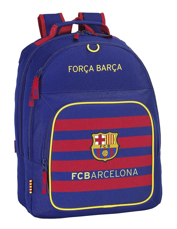 Safta FC Barcelona Mochila Doble Adaptable, 32 x 42 x 16 cm, Color Azul Marino