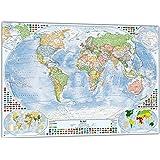 Politische Weltkarte mit 4 Nebenkarten, 100x70 cm, deutsch, Aktuell: Stand 2015