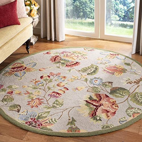 Best living room rug: Safavieh Chelsea Collection HK331C Hand-Hooked French Country Wool Area Rug