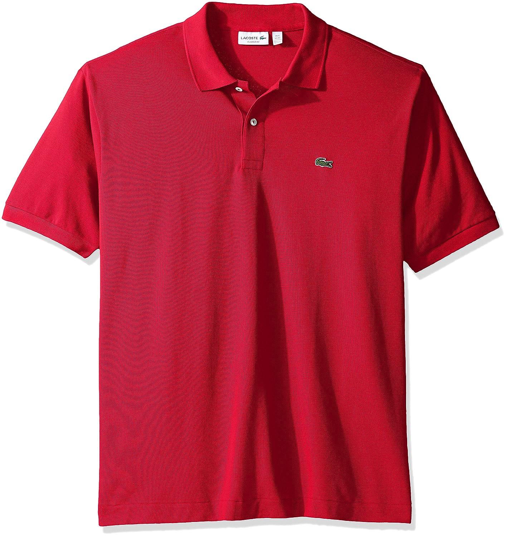 Lacoste ラコステMen's L-1212,半袖 鹿の子 ポロシャツ(並行輸入品) B001NDL2YG S|ざくろ色 ざくろ色 S