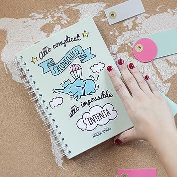 La mente es maravillosa - Cuaderno A5 - Regalo para amiga con dibujos - Diseño Cerdifante (Catalán): Amazon.es: Oficina y papelería